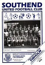 1988/89 Southend unida V IFK Goteborg, amistoso, Perfecto