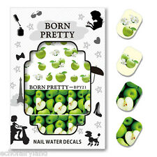 BORN PRETTY Water Decal Fruit Apple Nail Art Transfer Sticker Decoration BPY21