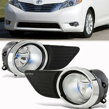 Black Housing Clear Lens Bumper Fog Light Lamp For 11-15 Toyota SIENNA CE LE XLE