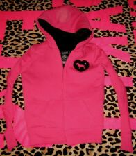Victorias Secret Pink Fashion Show Sequins Bling Fur Hoodie Coat NWT X-Small XS