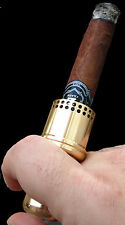 Cigar Cannon Premium Cigar Holder Gold Smoking Accessory Not a Lighter Gift WW