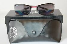Ray Ban Red Carbon Fiber Polarized Sunglasses RB8305 142/T3 Bordeaux/Grey Lens