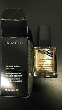 Gold Glimmer MOSAIC EFFECTS Top Coat (Crackle effect) AVON NAIL ENAMEL RETIRED