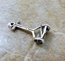 Sterling Silver Old Fashioned Push Mower Charm -0884