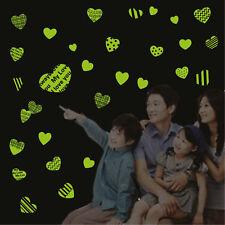 Bambini Decorazione parete 3D Adesivo Da Parete Luminoso Amore Del Cuore
