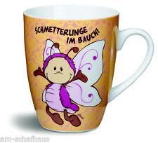 Nici Fancy Mug Tasse SCHMETTERLINGE IM BAUCH ! Becher Spülm. Geschenk Neu 37223