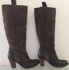 Frye Boots Villager Pull-On Size 7, Brown Suede, knee High Leather