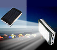 CARGADOR SOLAR PORTATIL MOVIL Y TABLET 10000 mAh CON LINTERNA LED POWER BANK LUZ