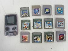 Nintendo Gameboy Color Clear Grape (Works) & 12 Games w/ Harry Potter+++