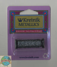 Kreinik Metallic Thread - 12Yd Spool of #011HL Gun Metal (Hi Lustre) VF #4 Braid