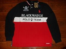 NWT POLO RALPH LAUREN Men Custom Fit BIG PONY Mesh Polo Shirt BLACKWATCH, Large