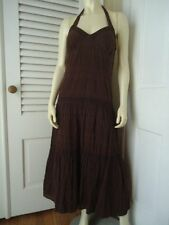 TOMMY HILFIGER Sz 8 Dress Ankle Full Length Peasant Hippie Halter Style Lined