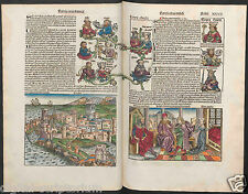 "OLD MEDIEVAL ""LIBER CHRONICARUM"", 15th C. -NUREMBERG CHRONICLE- (Digital-DVD)"