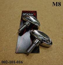 2 x Shaw m8 wingbolt/wingscrew 8mm-Varie applicazioni 002-101-016