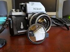 Nikon F Film Camera w/ NIKKOR-S Lens, Case, and Filter!
