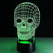 "Star Wars ""Skull""  3D Illusion Acrylic LED Night Light  - Touch Switch Desk Lamp"