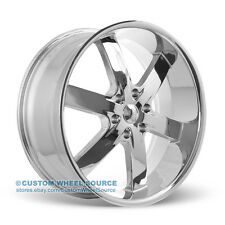 "20"" U2 55 Chrome Wheel and Tire Package for Cadillac Chevy Chevrolet"