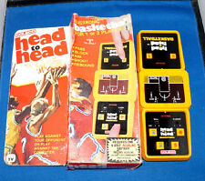 1980s COLECO BASKETBALL HEAD TO HEAD ARCADE ELECTRONIC HANDHELD GAME VINTAGE 80s