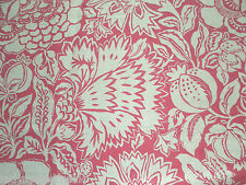 Sanderson Curtain Fabric POPPY DAMASK 1.2m Fuchsia/Cream Floral Design 120cm