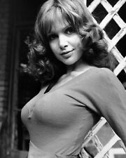 MADELINE SMITH IN TIGHT SWEATER SMILING B&W 11X14 PHOTO