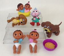 """Dora The Explorer Lg LOT 4"""" Twins Boots Perrito Puppy PVC Figures Water Toy"""