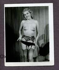 Big Fat Nipples Gorgeous Blonde Girl Undressing 1950 Original Nude Photo B2655