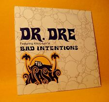 Cardsleeve Single cd DR. DRE Bad Intensions 2TR 2001 hip hop