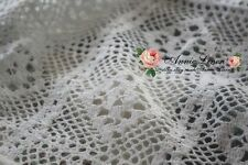 50%OFF Handmade White Country Vintage Crochet sofa bed Throw Spread+2 pillowcase