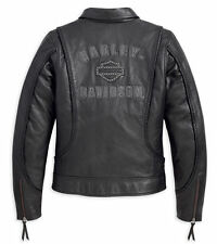 HARLEY-DAVIDSON GENUINE EMBELISHED LEATHER JACKET, SIZE SMALL NEW W/ TAGS