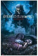 """AVENGED SEVENFOLD POSTER """"NIGHTMARE FOREVER"""""""