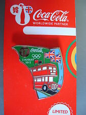 COCA COLA PIN BADGE - LONDON 2012 - DAY 7 LONDON BUS - MOC