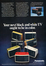 1971 Panasonic TV Television group scene - Original Advertisement Print Ad J207