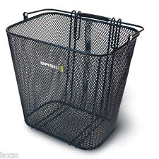 Bicycle Basil Cardiff Side Mounted Mesh Basket with Hooks Black (Rear Rack Req )