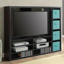 TV Stand Entertainment Center Wood Media Console Storage Home Theater Furniture