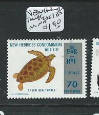NEW HEBRIDES (P1508B) TURTLE SC185  MNH
