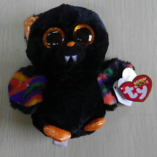TY BEANIES BOOS Scarem Halloween Bat 6 inch STUFFED DOLL NEW