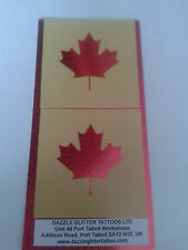2 x Maple Leaf face paint stencil Canada Canadian Rugby football reusable hockey