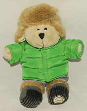 STARBUCKS - 2011 - BEARISTA BEAR in Green PUFFER JACKET & Fuzzy HAT *COLLECTIBLE