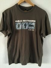 Plain Lazy T Shirt Top Khaki Public Restroom Logo Men's Size S  R5553