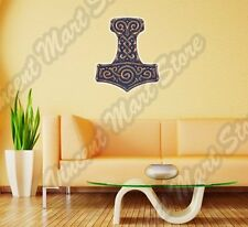 "Mjolnir Thor Hammer Amulet Celtic Wall Sticker Room Interior Decor 20""X25"""
