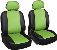Faux Leather Green Black Seat Cover for Dodge Charger w/Detachable Head Rests