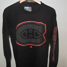 NHL Montreal Canadiens Goal Crease Long Sleeve Hockey Shirt New Mens Size XL