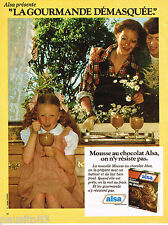 PUBLICITE ADVERTISING 055  1979  ALSA  la mousse au chocolat