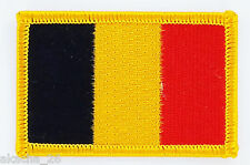PATCH ECUSSON BRODE DRAPEAU BELGIQUE INSIGNE THERMOCOLLANT NEUF FLAG PATCHE