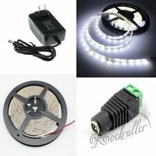 5M 3528 SMD Waterproof  Cool White 300 LEDs Flexible Strip Light+DC+2A Power