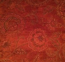 FABRICUT Paisley Italy Maroon Stain Repellent Remnant New
