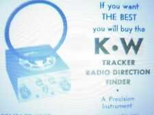 RARE K-W  kEVIN WHITE AND CO. RADIO DIRECTION FINDER