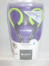 Brand New Sony MDRAS400EX SportsHeadphonesAdjustable Ear Loop/Green - BRAND NEW