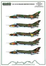 "Model Maker Decals 1/72 SUKHOI Su-22 ""FITTER"" Polish Air Force Fighter Part 2"