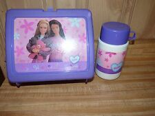 Vintage Plastic Lunch box With Thermos Barbie My Wonderful Friend purple Theresa